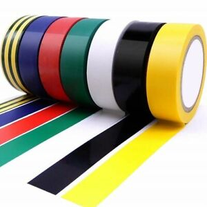 6x Pack PVC Electrical Insulating Tape Flame Retardant Coloured Insulation Tapes