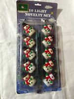 Strands VTG Christmas Indoor Lighting Snowman Snowmen Kurt S Adler 10 Light Set