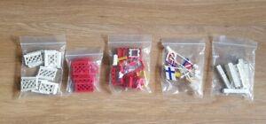 Bundle Of Vintage Lego Castle Knight Shields Flags, Gates, Letter Blocks etc