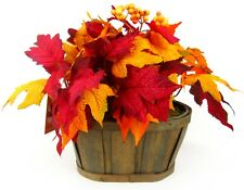Kohl's Celebrate Autumn Together Faux Botanical Home Decor Basket Leaves B1