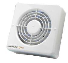 "Manrose Gold Range 6"" Wall Ceiling Bathroom Shower Extractor Fan in white"