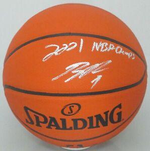 Bucks BOBBY PORTIS Signed Spalding I/O Replica Basketball AUTO w/ NBA Champ JSA