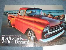 "1958 Chevy apache 3100 Custom Pickup Truck Article ""It All Starts with a Dream!"""