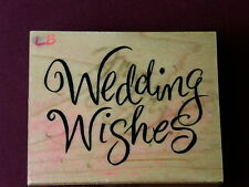 PSX F-2910 1999 Wedding Wishes Love Marriage Celebrate Cursive Used Rubber Stamp