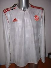 TAHITI ADIDAS L/S Shirt Jersey Soccer adulte grand Trikot Maglia grise Coupe du monde A