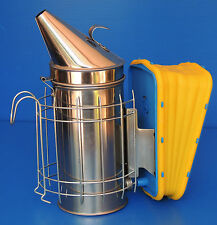 Beekeeping smoker - stainless steel - bellows & skin easily replaceable