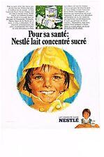 PUBLICITE  1969   NESTLE   lait concentre