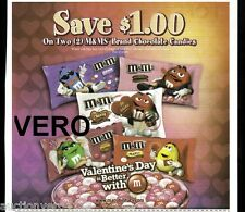 2013 magazine ad M&M's VALENTINE'S DAY BETTER WITH mms M&M advertisement print