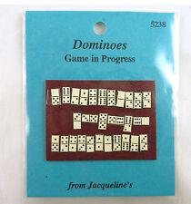 Dollhouse Miniature Dominos Game in Progress
