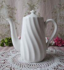 Antique Vtg c1900s-1930s *ART~NOUVEAU~DECO* Sea-Shell Swirl Tea Pot & Lid White