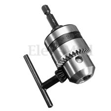For 1-10mm Shanks 1/4'' Thread Drill Turn Hex Shank Electric Drill Chuck Tool