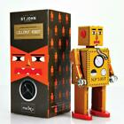 """LILLIPUT ROBOT 5"""" Saint John Wind Up Tin Toy Collectible Retro Outer Space St."""