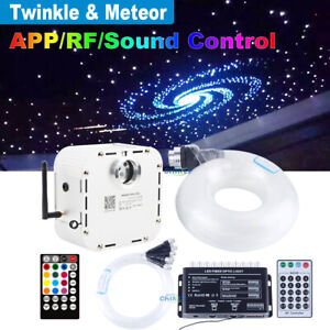 32W TWINKLE RGBW  Fiber Optic Star Ceiling Kit LED Meteor Light 800pcs 4m 0.75mm