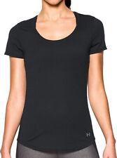 Under Armour Streaker Womens Sports Top Black Short Sleeve Gym Running Training