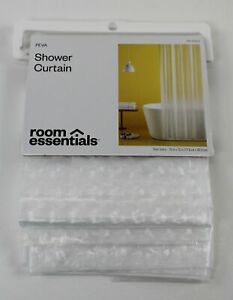 """ROOM ESSENTIALS Shower Curtain NEW IN PACKAGE 70"""" x 72"""" Cubitz Clear PEVA"""
