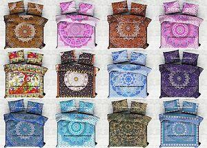 10 PC Wholesale Lot Cotton Duvet Cover Quilt Indian Queen Comforter Set & Pillow