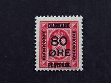 Stamp Timbre Danmark Denmark 80 Postfrimearke * Hinged