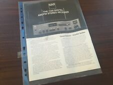 NAD Stereo Receiver 7140 Sales Brochure