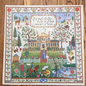 Springbok Art of the Sampler Embroidery Puzzle **One Piece Missing **
