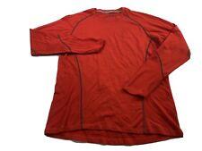 Smartwool Men's XL Red Long Sleeve Merino Wool Base Layer Shirt