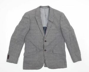 Rocha John Rocha Mens Grey Check  Jacket Blazer Size 40