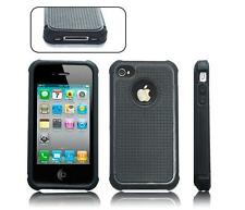 BLACK HARD COVER CASE FOR APPLE IPHONE 4S 4 4G DEFENDER SHOCK PROOF ARMOUR CASE
