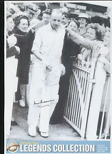 1946 Bradman signed coming out to bat photo Certificate of Authenticity