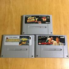 Super Famicom SNES - SHVC-S2 JP PO - Street Fighter 2 & Zen Nippon & Populous