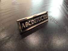 Authentic Supreme abcdefucku pin box logo rare abc  fall 2014 F/W sold out