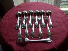 Christofle Spatours 6 couverts de table métal argenté Table spoon Dinner fork