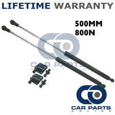 2X UNIVERSAL GAS STRUTS SPRINGS KIT CAR OR CONVERSION 500MM 50CM 800N & BRACKETS