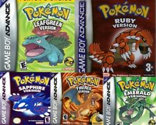 Pokemon Games Emerald/ Sapphire /Ruby/ Fire Red/ Leaf Green GBA Gameboy Advance
