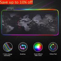 Large Backlight RGB Mouse Pad LED Non-slip Mice Mat For PC Laptop