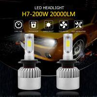 H7 20000LM 200W LED Headlight Kit Bulbs Low Beam High Power 6500K White CANBUS