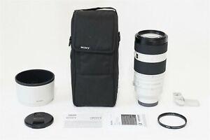 Sony FE 100-400mm f/4.5-5.6 GM OSS Lens EX+ BONUS B+W 77mm UV A7 A7R A7S Camera