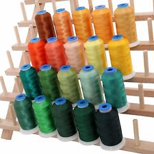RAYON MACHINE EMBROIDERY THREAD SET 20 YELLOW/GREEN COLORS - 1000M CONES - 40WT