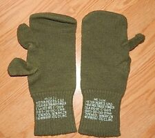 New Warm US Army Wool ECWCS Trigger Finger Mitten Inserts OD Liner Gloves M USGI