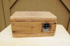 "Critter Bait Holding Box Wood Cage 10x6x5"" Mouse Bird Snake Chipmunk Primitive"