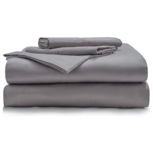Miracle Percale Queen 350 Thread Count Comfortable Signature Sheet Set, Stone