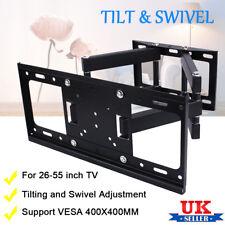 """Super Heavy Duty Double Arm Tilt Swivel TV Wall Bracket Mounted 26-55"""" Foldable"""