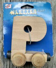 Wooden Toy Train Car Letter P Thomas Brio Compatible New Letter Depot