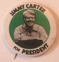 "1976 Jimmy Carter For President Democrats Political 2.15"" Pinback Button"
