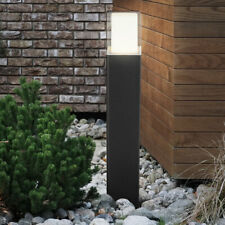 LED Außen Steh Stand Lampe Grundstück Sockel Garten Leuchte ALU Glas Beleuchtung