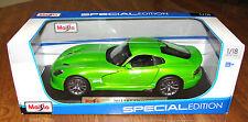 Maisto 2013 SRT VIPER GTS 1/18 Special Edition Hood Doors Trunk Open