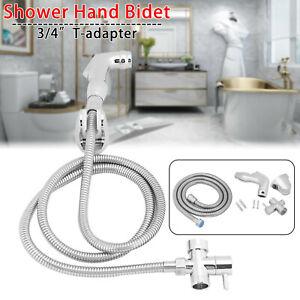 Hand Held Douche Bathroom Spray Kit Chrome Hygienic Toilet Shower Head Bidet UK