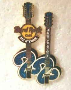 Hard Rock Cafe Pin New York 22nd Anniversary Double Armed Guitar