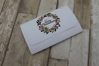 Personalised Christmas Favour Scratchcard holders Tags/Card Gingerbread wreath