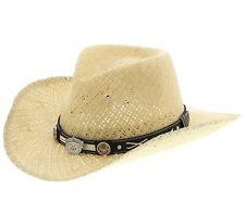 Jack Daniels Cowboyhut JD03-705 CRISSCROSS Beige / Damen und Herren Strohhut