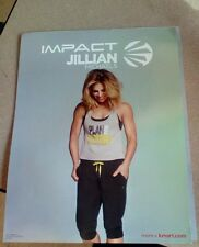 Jillian Michaels cardboard poster, Impact pose 4 poster, Approx. 11.5 X 8.5 in
