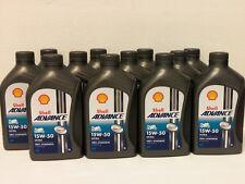 7,49€/l Shell Advance Ultra 4T 15W-50 12  x 1 L vollsyn Premium 4Taktöl